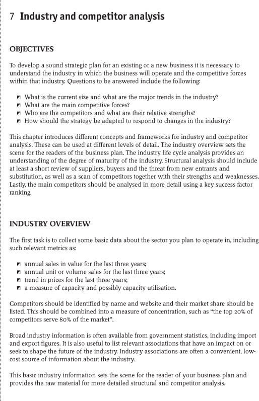 Industrial Competitive analysis