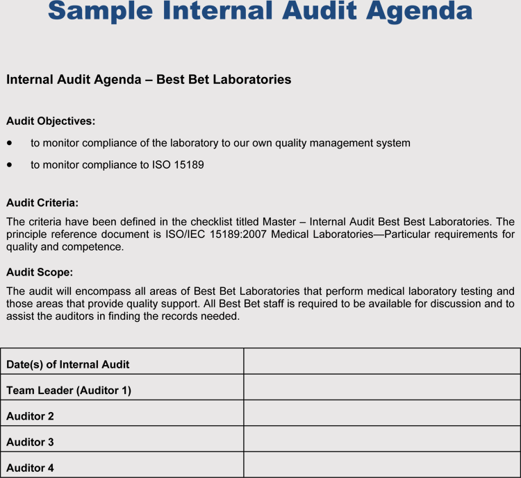10  templates for audit agenda  guidelines  u0026 examples