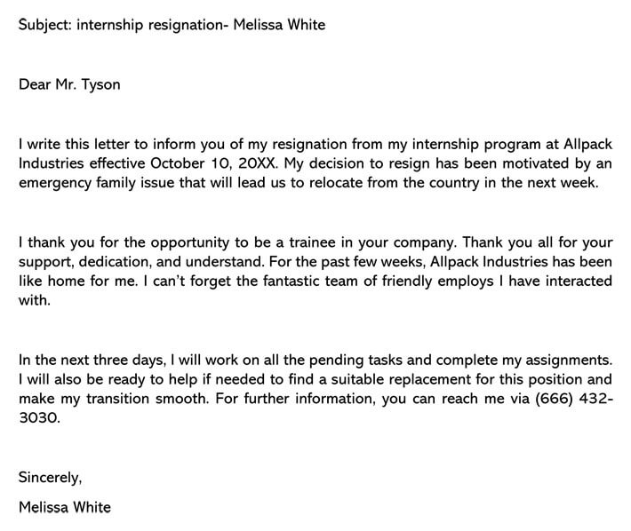 Resignation Letter Email Subject from www.wordtemplatesonline.net