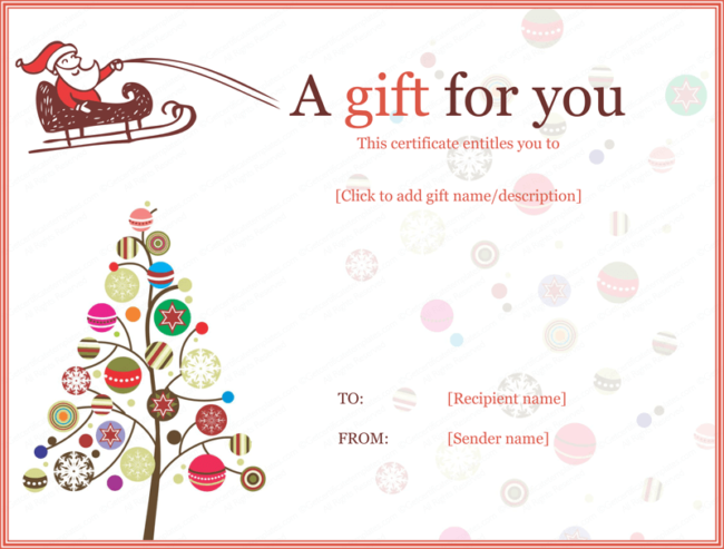 christmas gift certificates designs