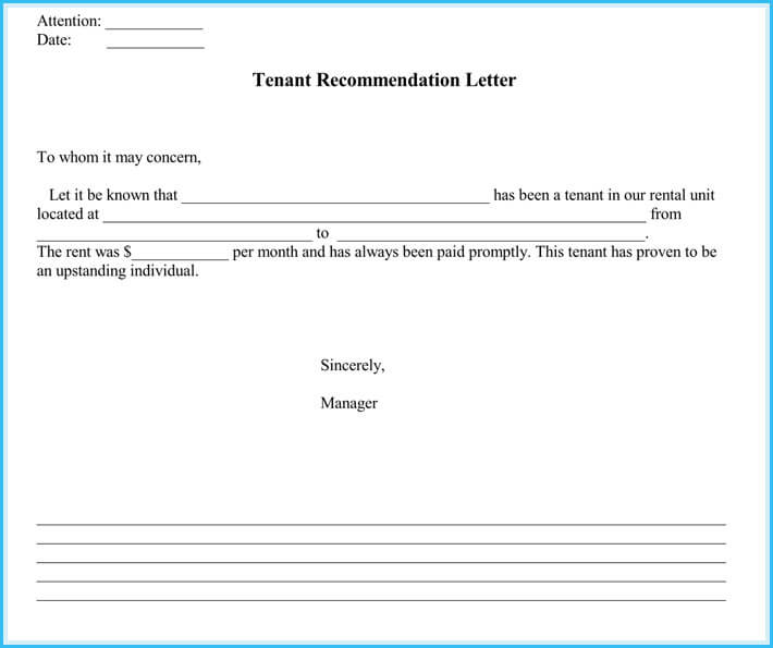 sample of lease reference letter