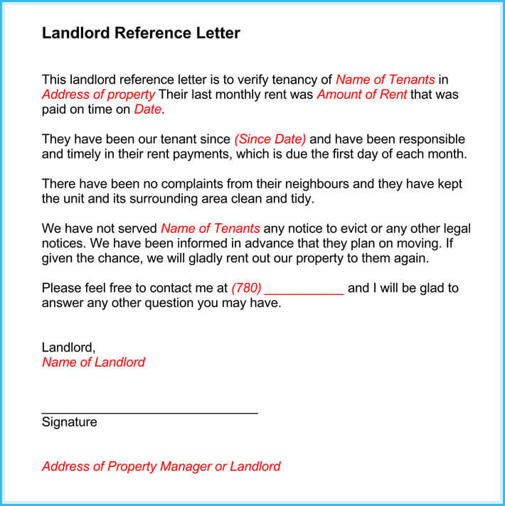 Landlord reference letter 5 samples what is it how to write it free print landlord reference letter altavistaventures Gallery