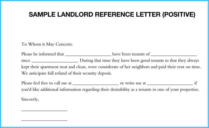 landlord reference letter Landlord Reference Letter - 5  Samples - What is it