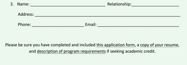 Legal Internship Application