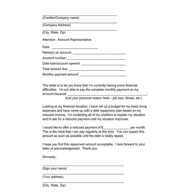 Sample Debt Collection Letter Templates For Debtors
