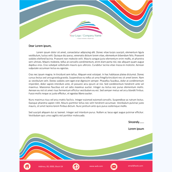 Letterhead Word Template 5 Printable Layouts – Personal Letterhead