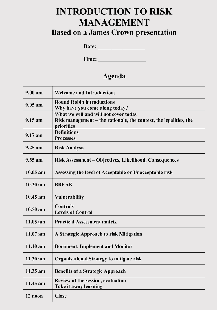 strategic management meeting agendas  10  free templates