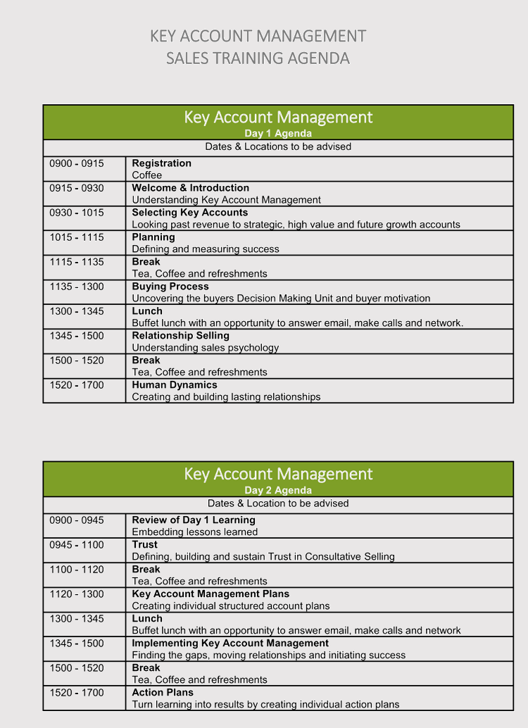 free strategic management agendas