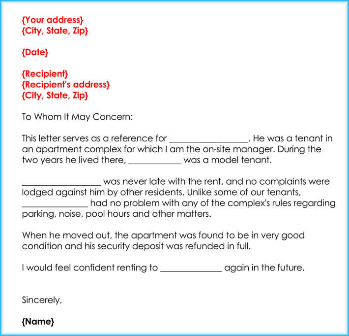 free print manager reference letter
