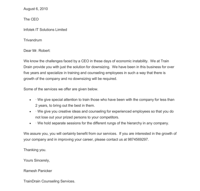 Marketing Letter Template 10 Samples Word And Pdf