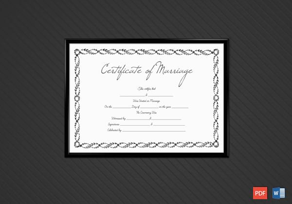 create marriage certificate templates