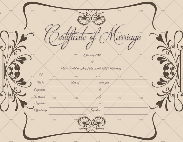 Marriage Certificate format doc
