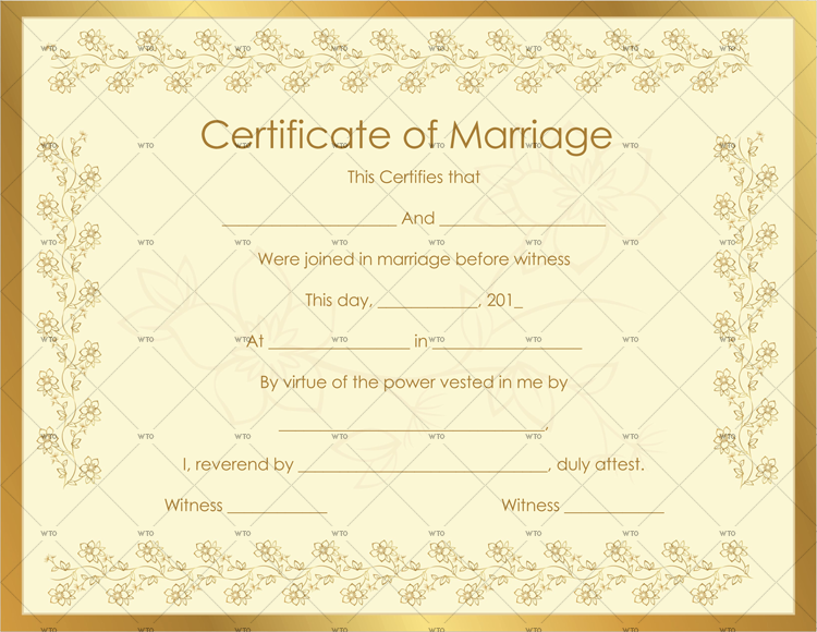 marriage certificate frame