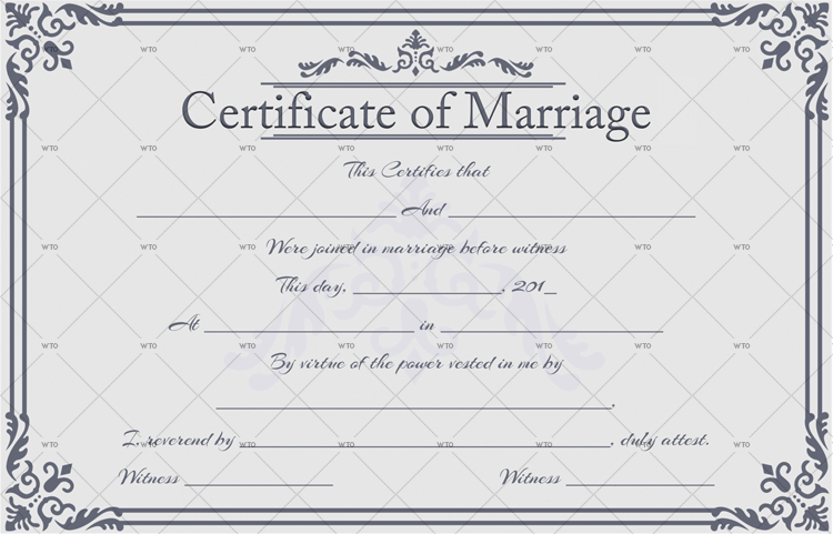 marriage certificate form Template