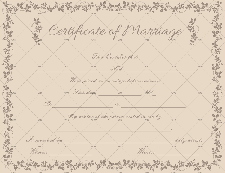 marriage certificate application