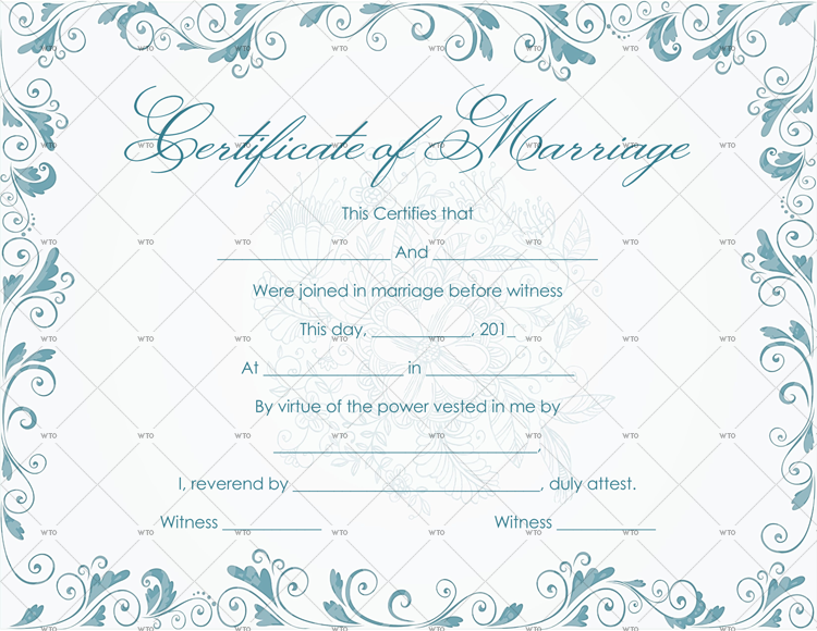 marriage certificate Template search