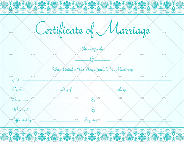 microsoft office Marriage certificate template