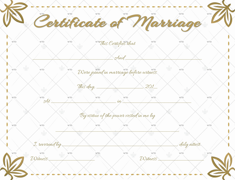 marriage certificate up Template