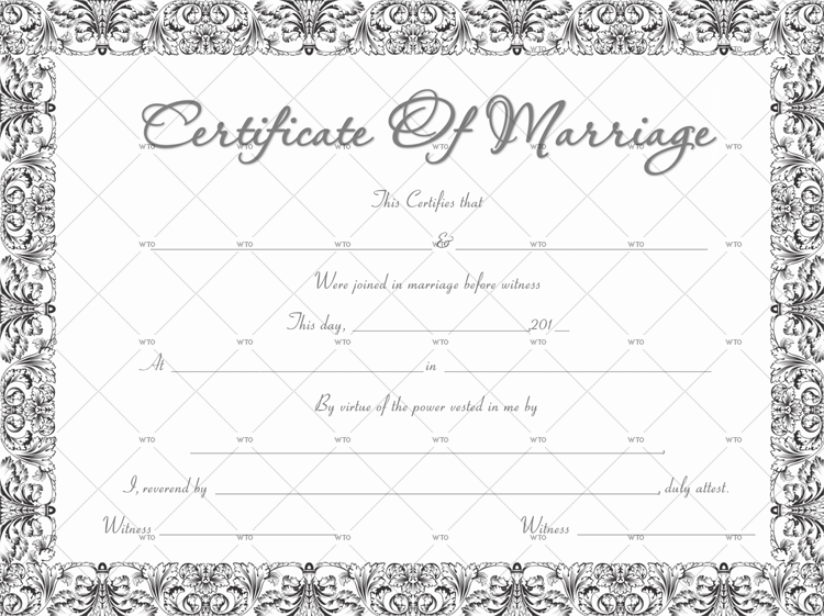 how to get marriage certificate Template