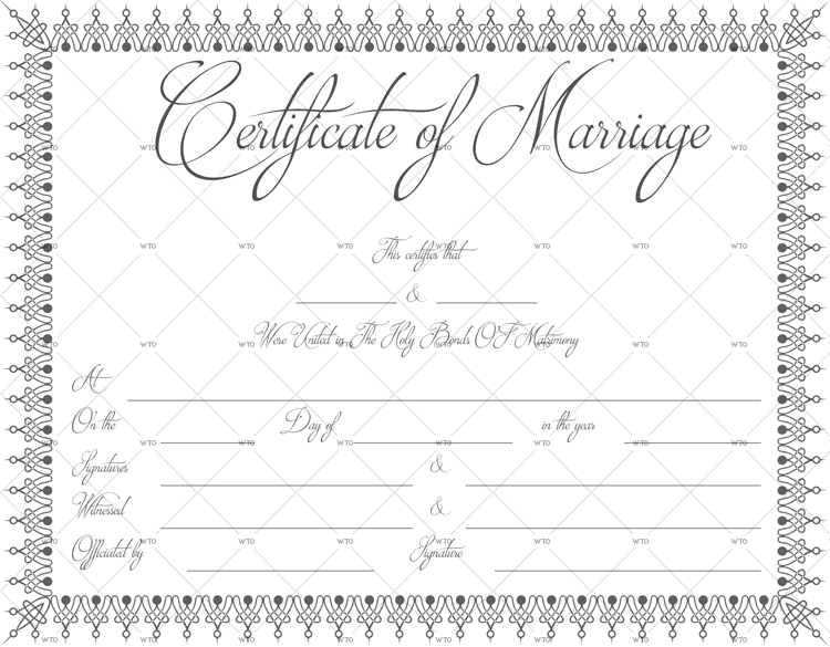 marriage certificate search