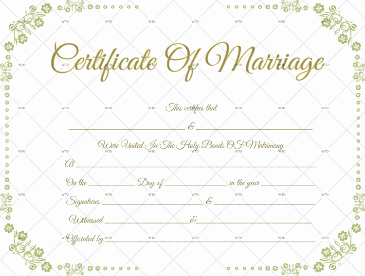 image about Printable Marriage Licenses named 60+ Connection Certification Templates (for Microsoft Phrase)