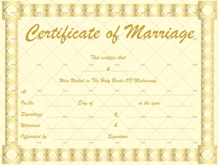 marriage certificate uk