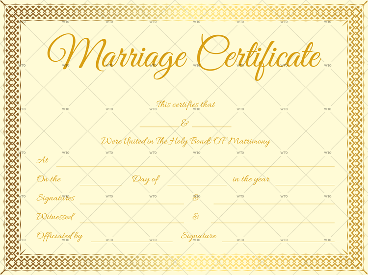 marriage certificate ontario