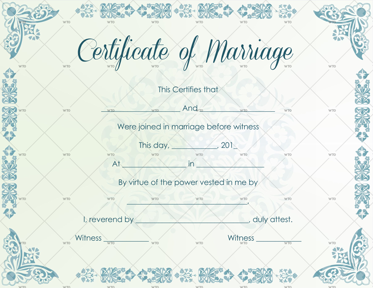 find marriage certificate Template