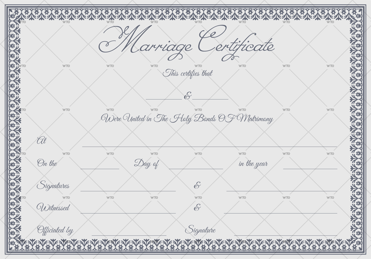 copy of marriage certificate