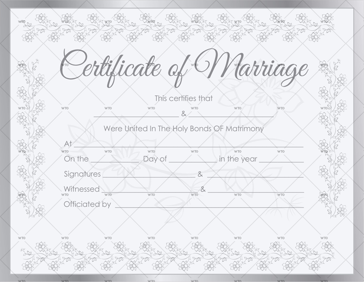60+ Marriage Certificate Templates (for Microsoft Word)
