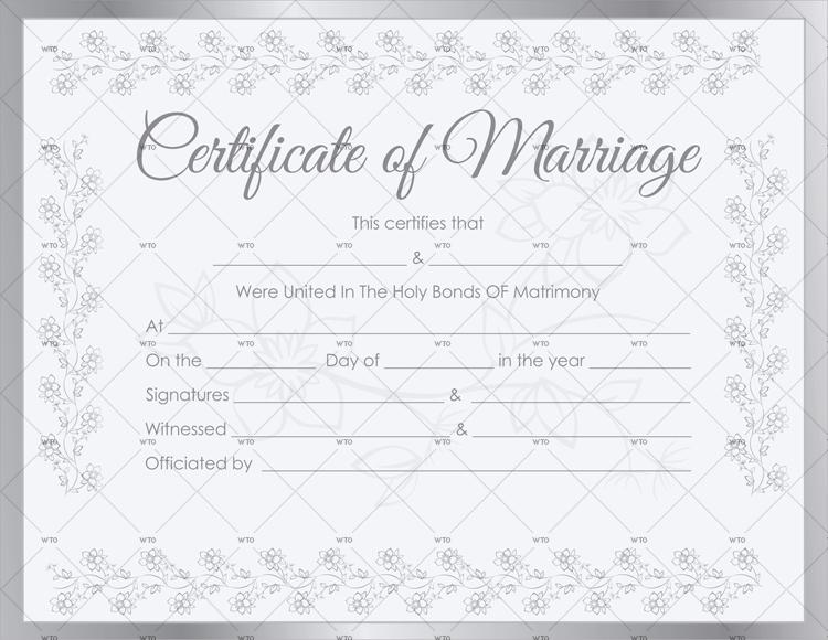 get marriage certificate Template online