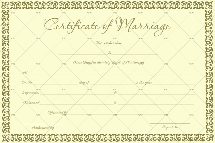 find marriage certificate online