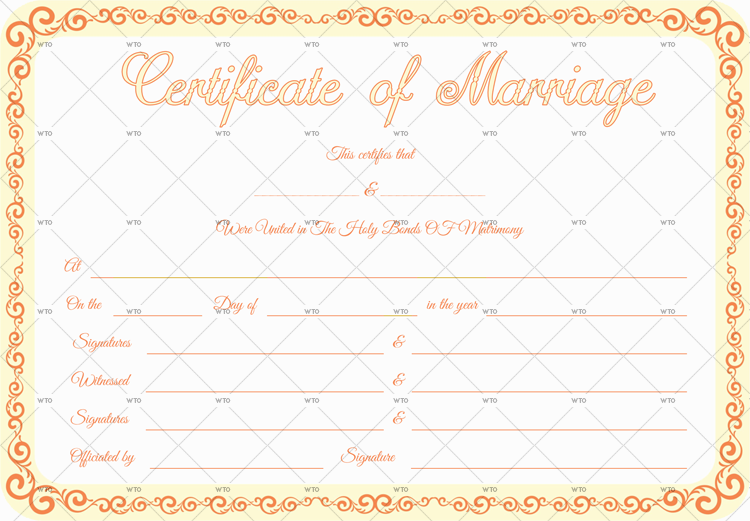 marriage certificate form online