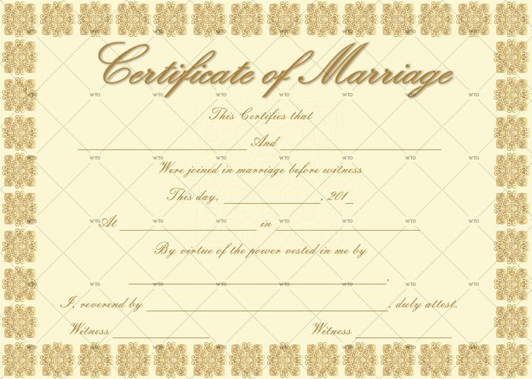 marriage certificate maker