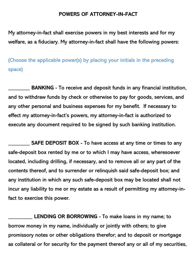 Massachusetts Power of Attorney Form