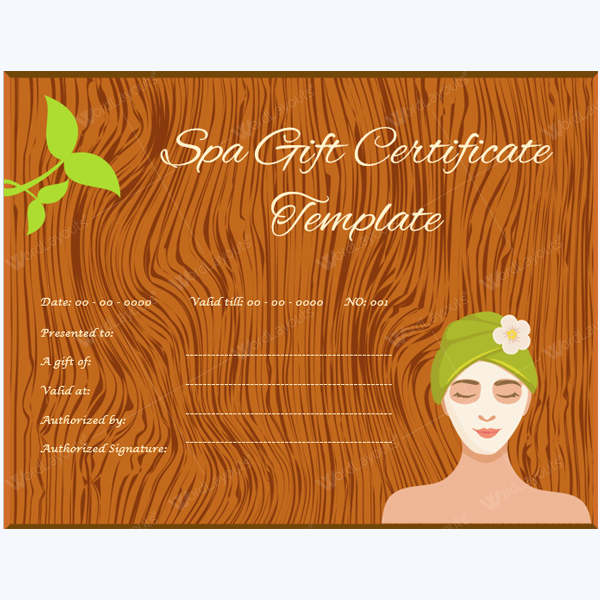 Massage Gift Certificate Designs