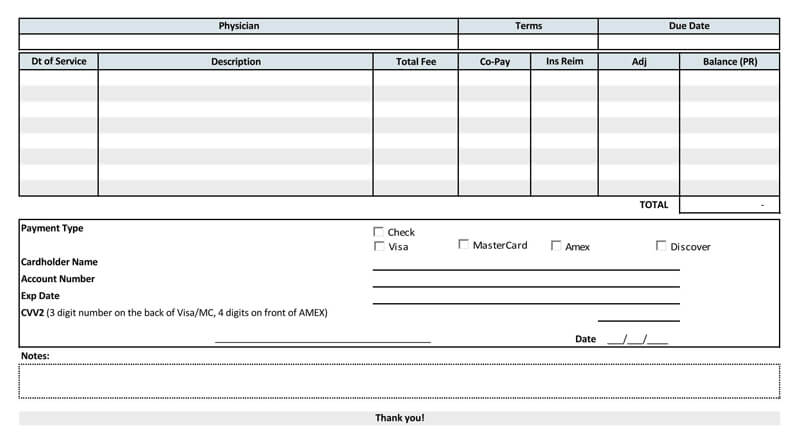 Medical Receipt Template PDF