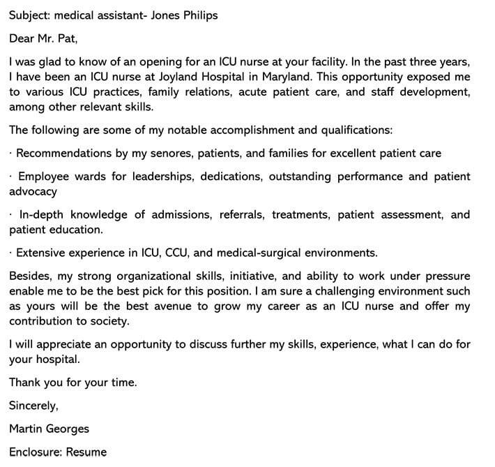 Medical Cover Letter Template from www.wordtemplatesonline.net