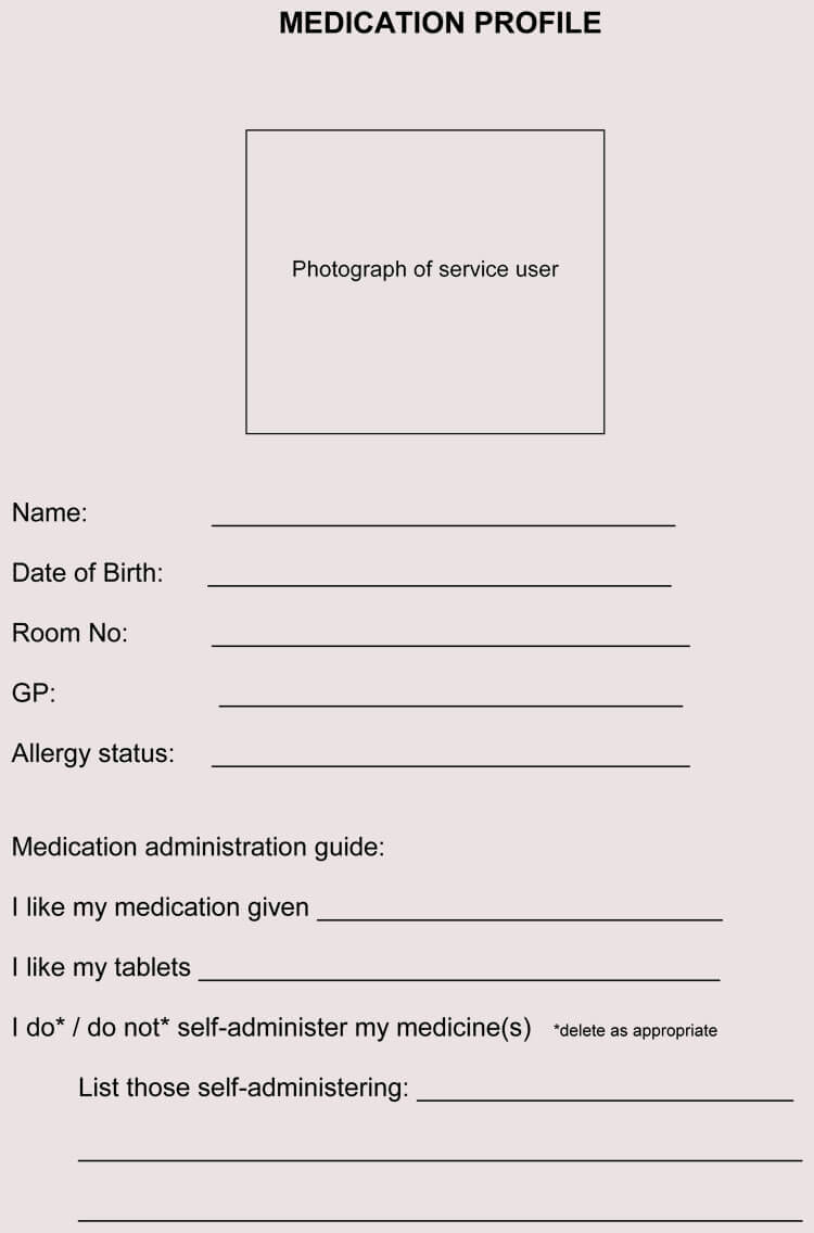 10  blank medication sheet templates  record medication logs