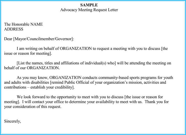 Meeting appointment letter templates 6 samples for Email template to request a meeting