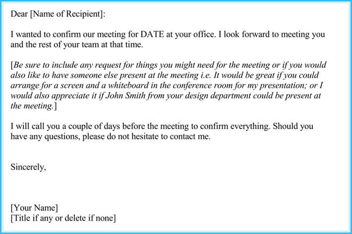 free download meeting appointment letter