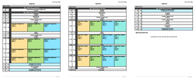 Meeting planner template organize your agenda meetings for Planning a conference template
