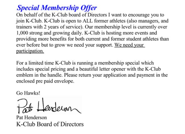 Membership Offer Letter 1