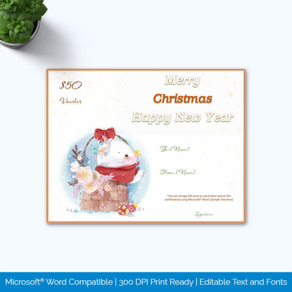 Microsoft Word Christmas Gift Certificate
