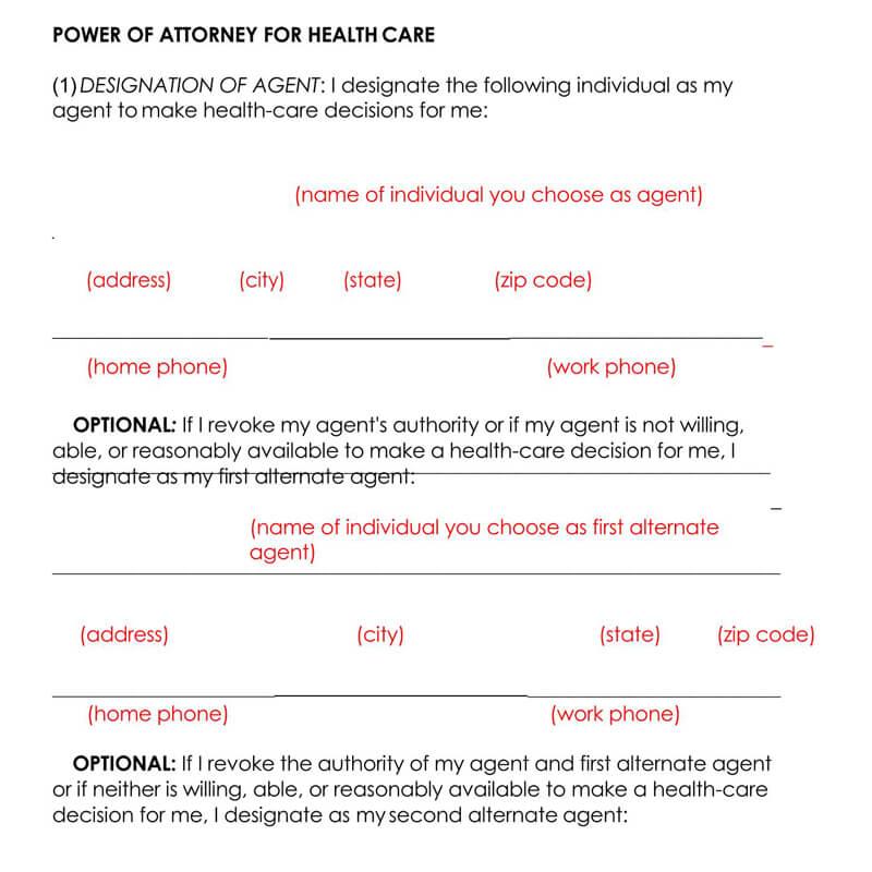 Mississippi Medical POA Form