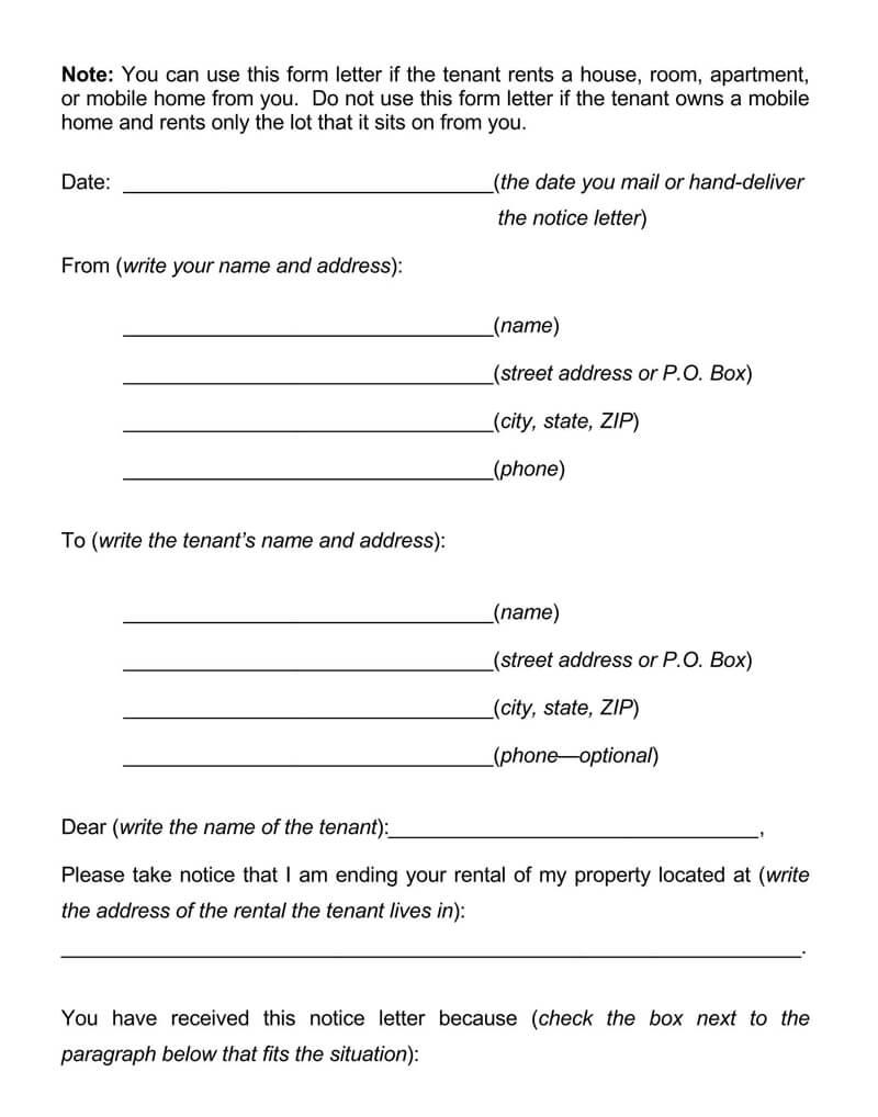 Montana Eviction Notice Form