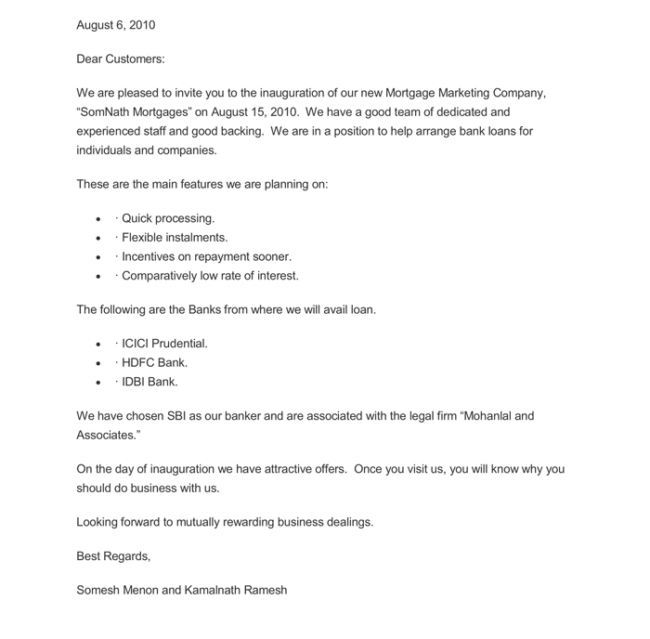 Mortgage Marketing Letter