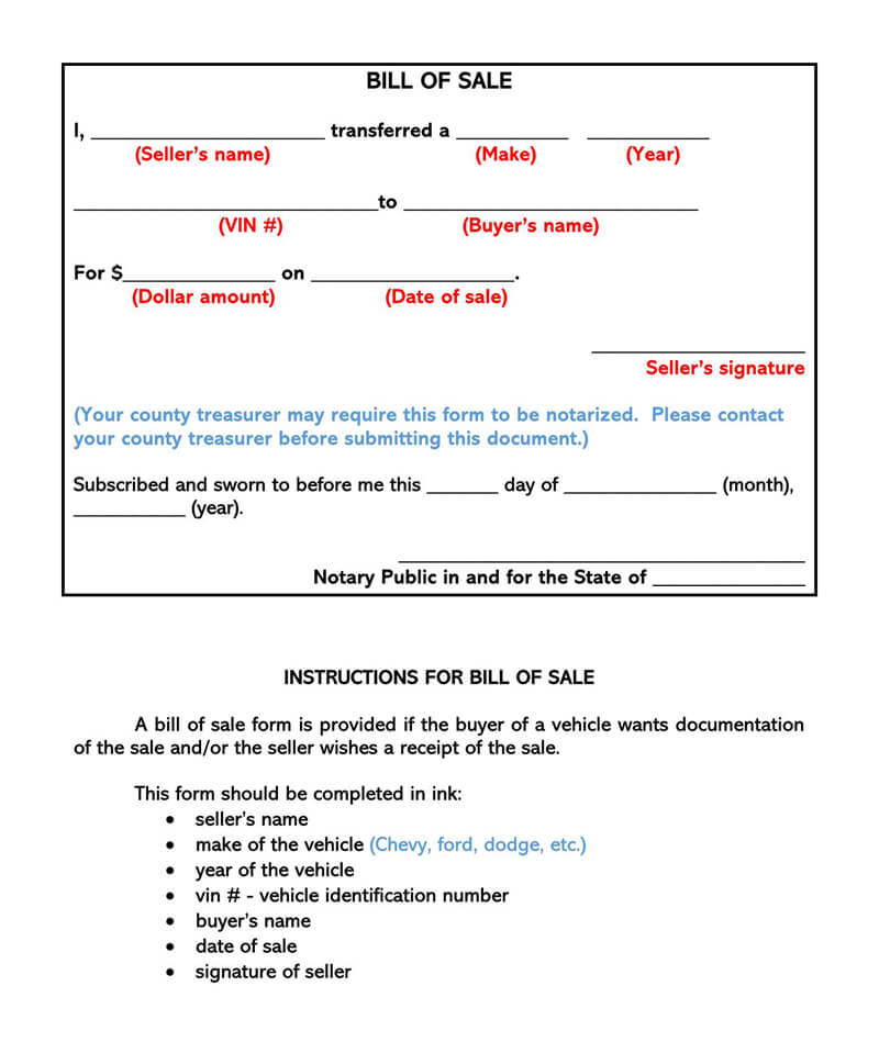 Motorcycle Bill of Sale Form 04