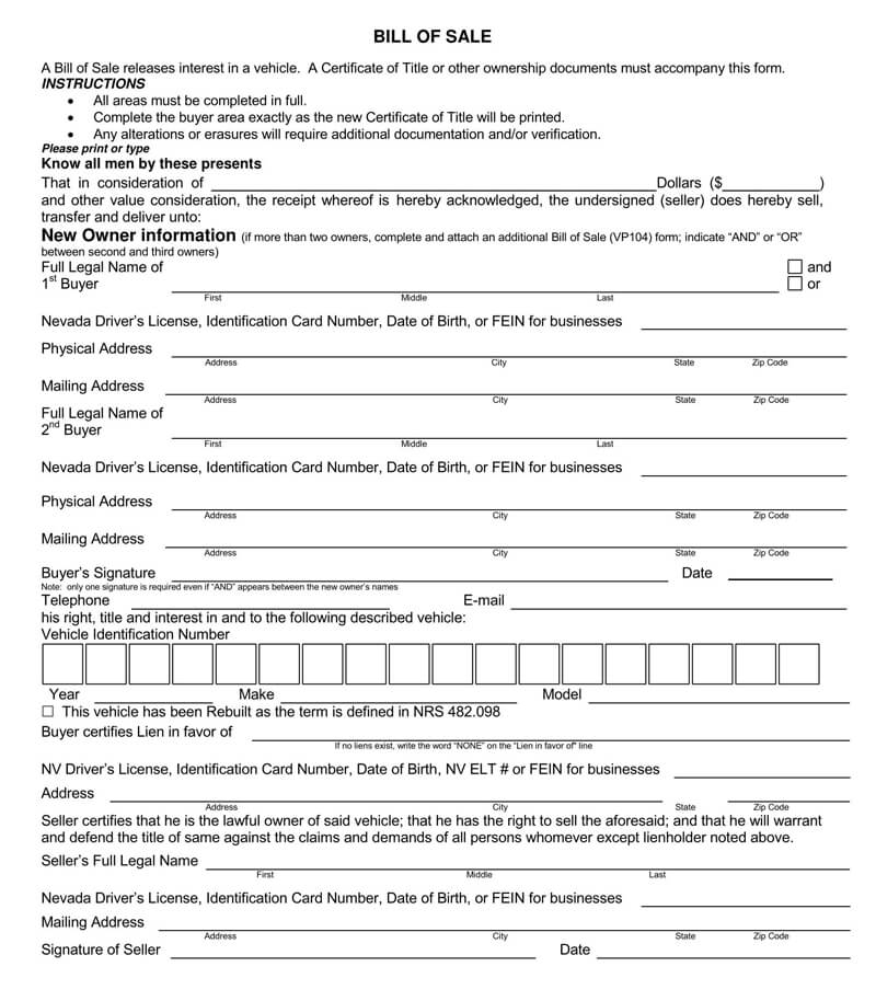 Motorcycle Bill of Sale Form 05