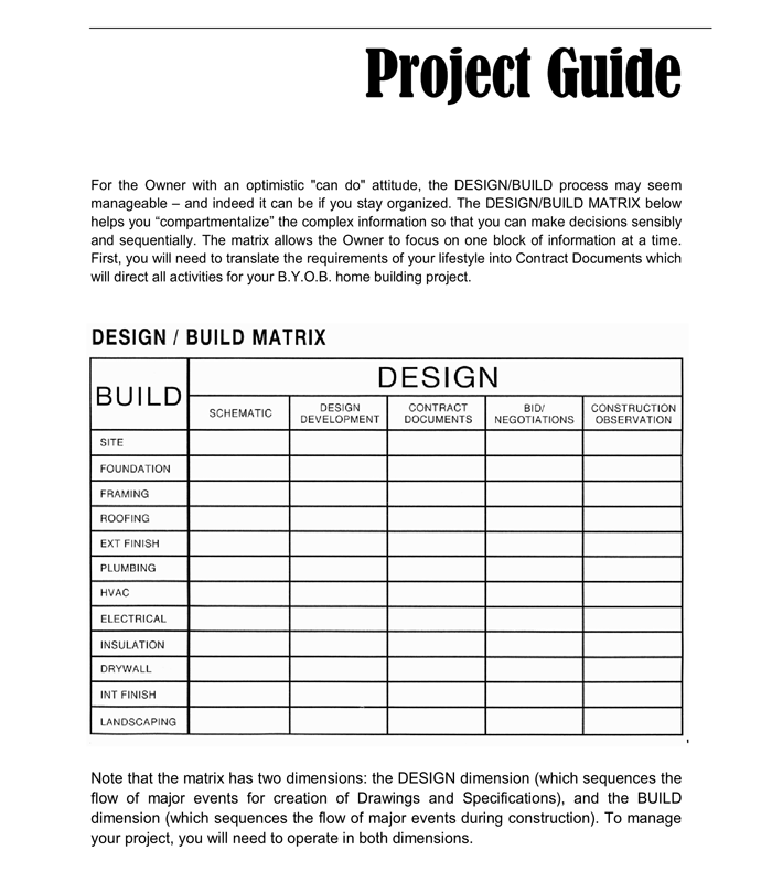 New Home Construction Budget Form